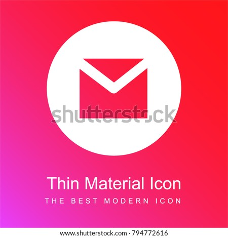 Gmail red and pink gradient material white icon minimal design