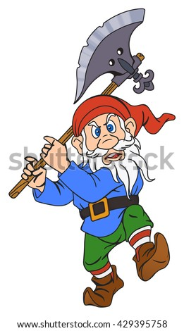 gnome with a halberd