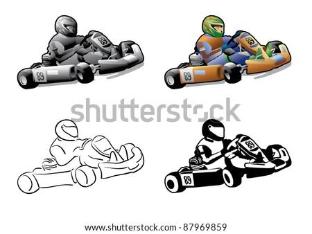 go cart karting racing race