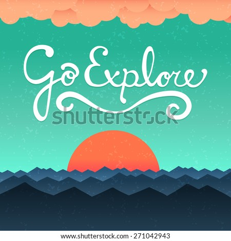 go explore poster with hand