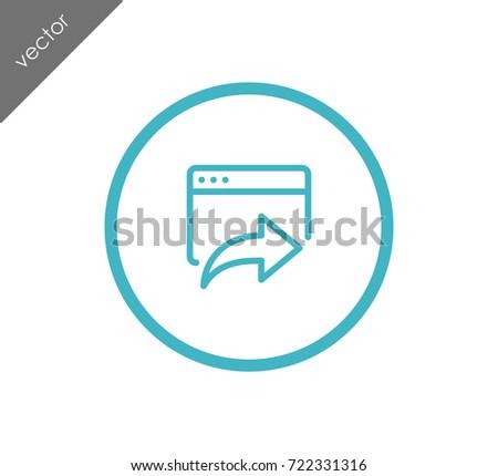 Go forward web site icon