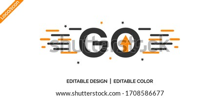 Go / Go Ahead latter tag icon Design. promotion icon, best deal symbol, Speech bubble banner,  Go Ahead stamp uses Yellow ‍and black color, Vector illustration