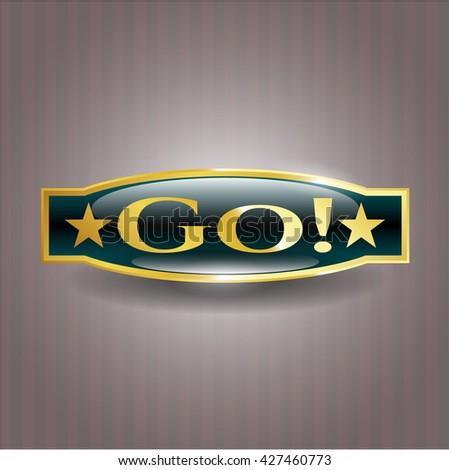 Go! gold emblem