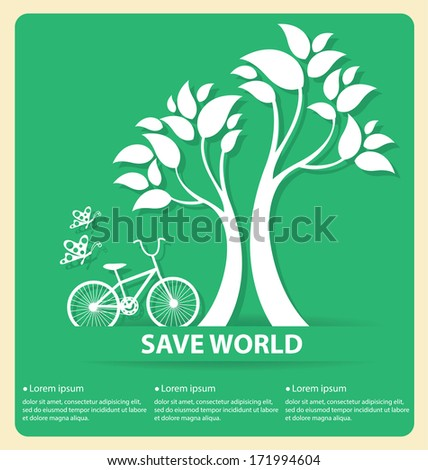 go green concept save world
