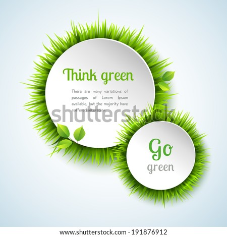 go green concept with summer