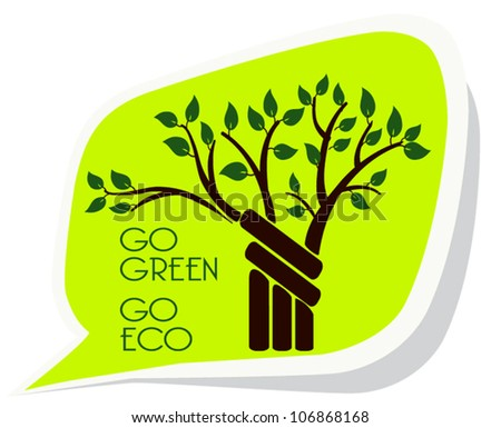 Go green, go eco on a sticky notes