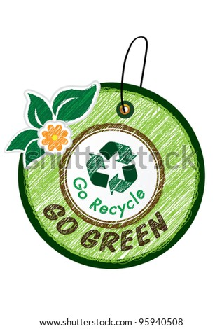 Go green icon vector illustration