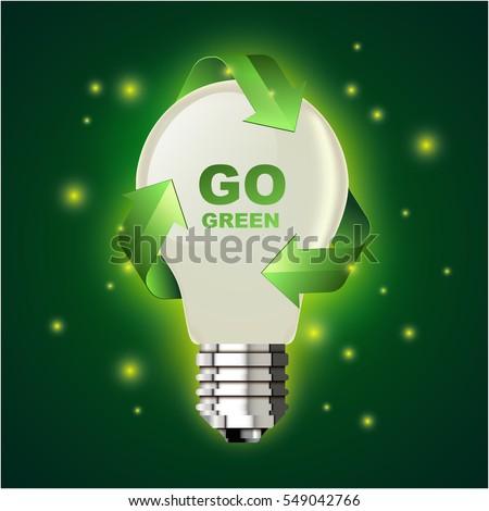 Go green lightbulb stock vector 549042766 shutterstock for Facts about going green