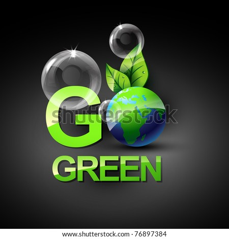 go green vecto symbol style design