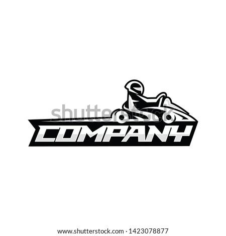 Go kart logo template vector illustration Zdjęcia stock ©
