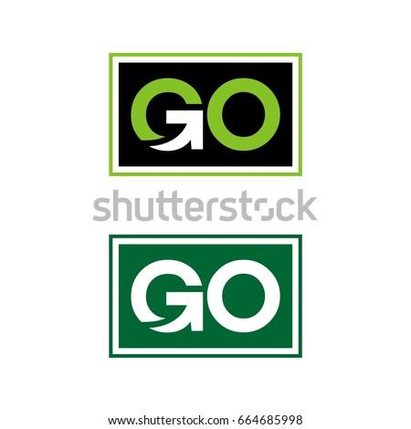 GO Logo Template Illustration Design. Vector EPS 10. Foto stock ©