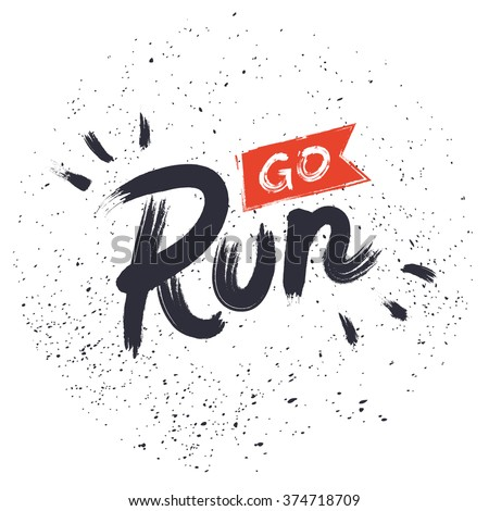 go run hand drawn lettering