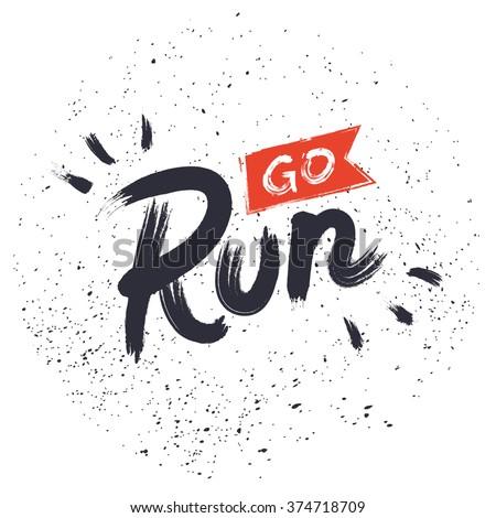go run hand drawn lettering