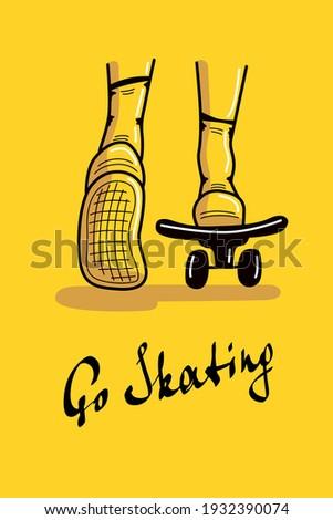 go skating postcard