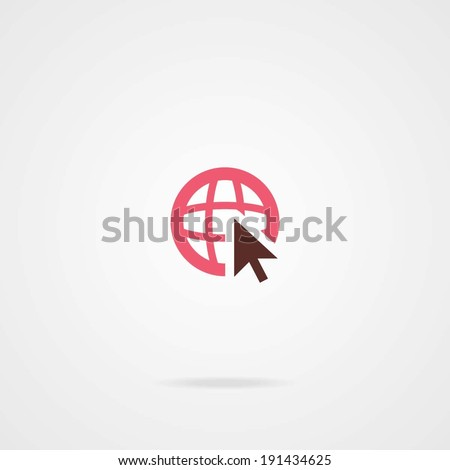 go to web icon eps10