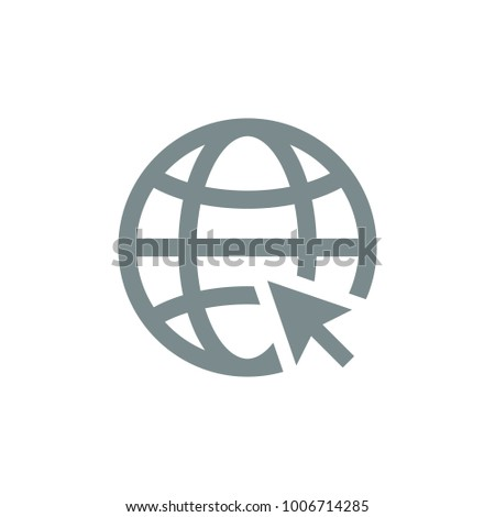 Go to web Icon in trendy flat style isolated on grey background. Website pictogram. Internet symbol for your web site design, logo, app, UI. Vector illustration,