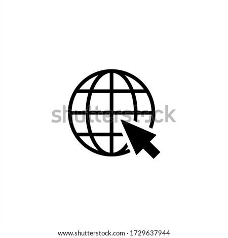 Go to web icon symbol. Website icon symbol illustration on white background