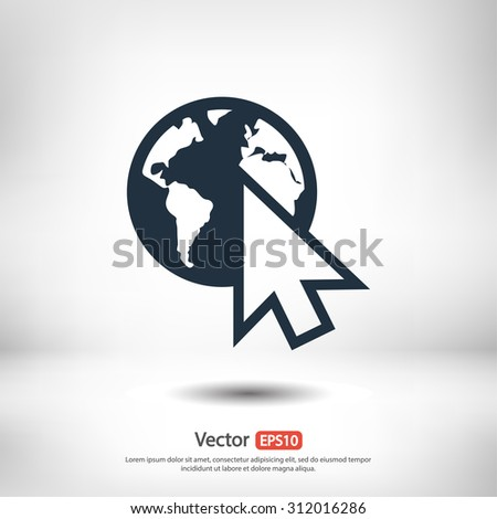 go to web icon  vector