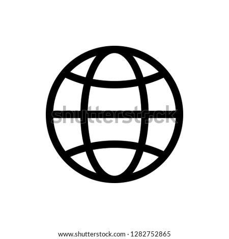 Go to web Icon. Web icon vector. Web icon page symbol for your web design. Internet world vector