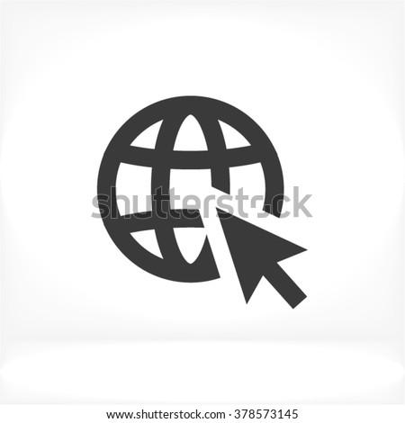 Go to web vector icon