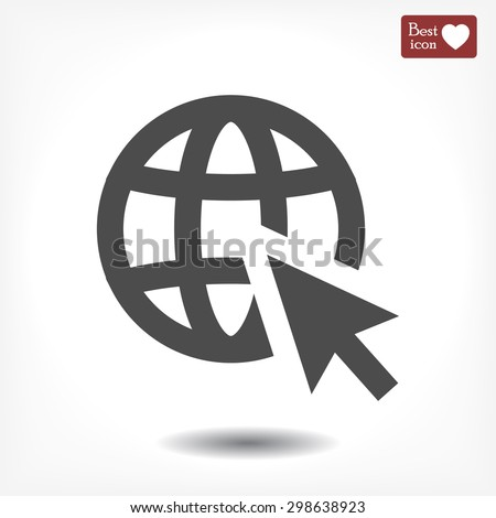 go to web . vector icon 10 EPS
