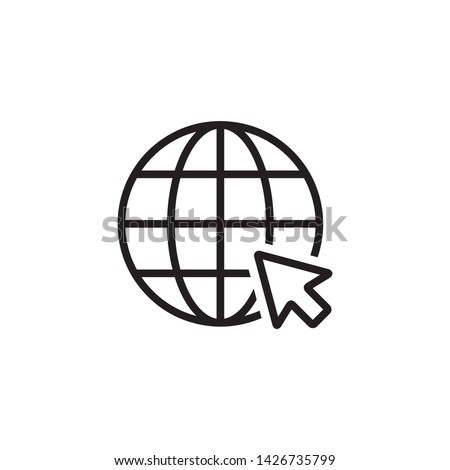 Go to Website Icon Vector Illustration