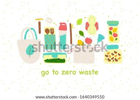 go to zero waste recycle hand