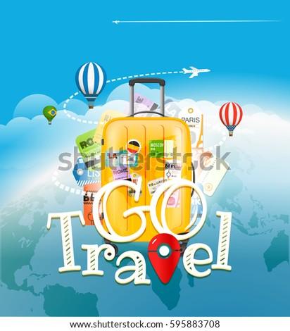 go travel concept travel bag