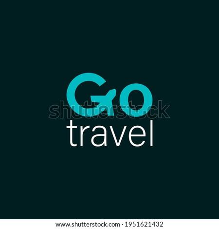 Go travel logo vector Letter G Air Travel
