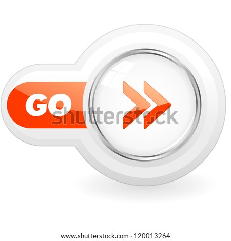 GO. Vector button.