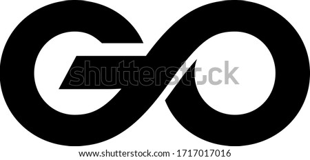 Go vector lettering isolated on white background Foto stock ©