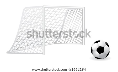 Goal and vector soccer ball