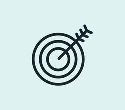 Goal icon line isolated on clean background. Goal icon concept drawing icon line in modern style. Vector illustration for your web mobile logo app UI design.