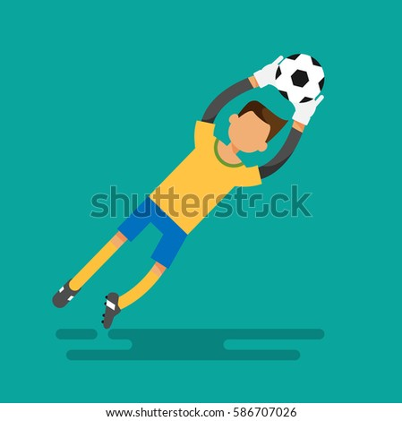 goal keeper catches the ball