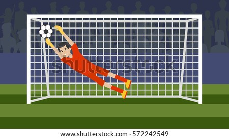 goalkeeper in the gate on the