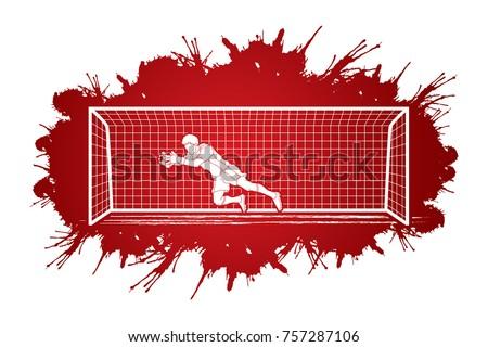 goalkeeper jumping action