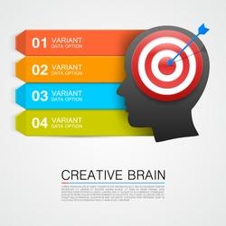 Goals with target information. vector illustration