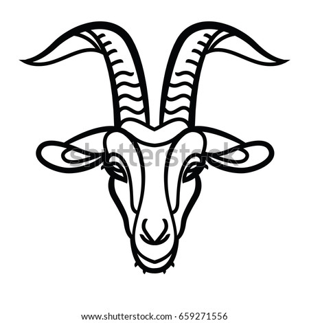 goat head line icon  outline...