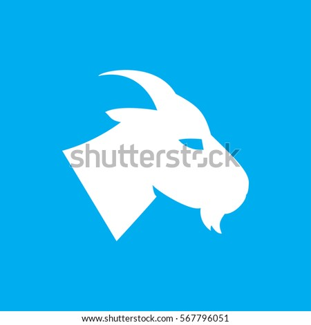 goat icon. illustration isolated vector sign symbol
