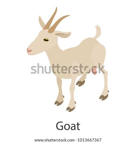 Goat icon. Isometric illustration of goat vector icon for web