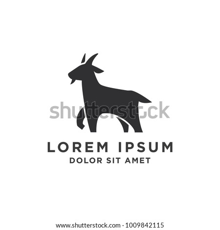 Goat Simple Logo Template Design