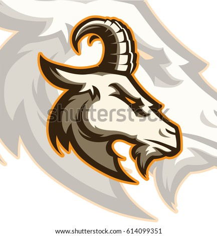 Goat sport logo mascot element