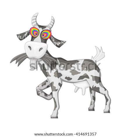 goatvector cute cartoon goat