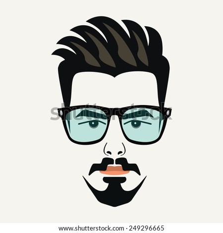 goatee beard young hipster male