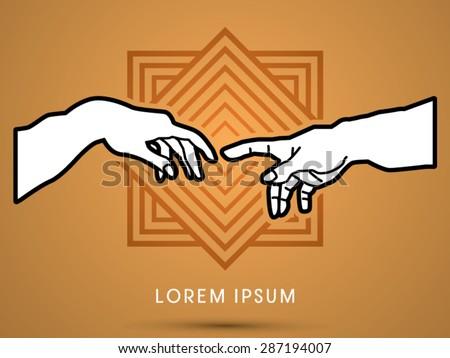 god and adam's hands   designed
