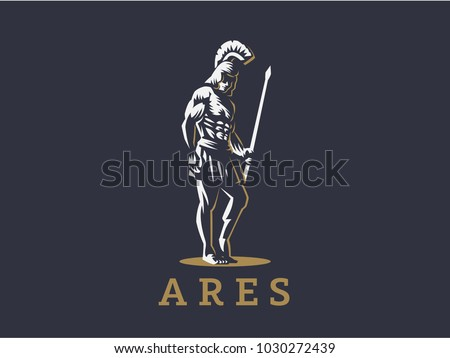 god ares or mars with a spear