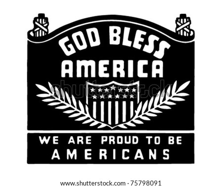 God Bless America - Retro Ad Art Banner