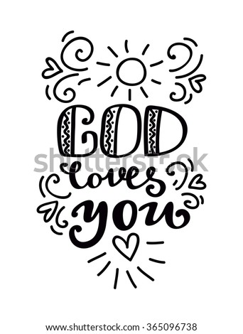god loves you typography