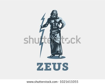 god zeus is holding lightning