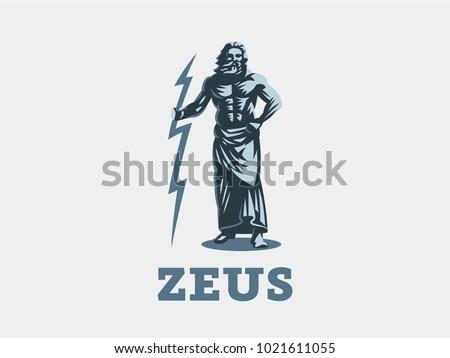 god zeus is holding lightning